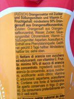 Bravo Orange - Ingrédients