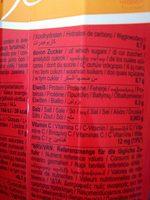 Bravo Orange - Informations nutritionnelles