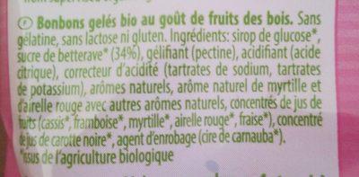 SOFT BERRIES - Ingredientes