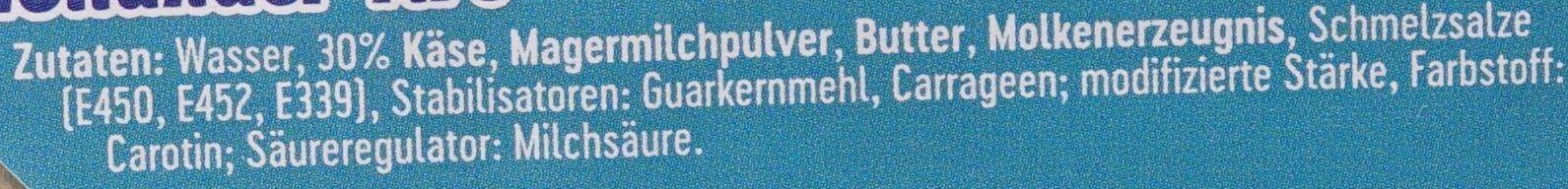 Holländer Art Schmelzkäse Zubereitung - 成分 - de