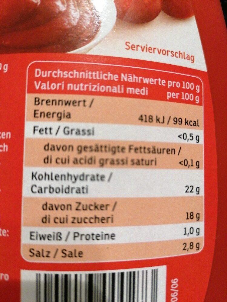 Ketchup - Informations nutritionnelles - de