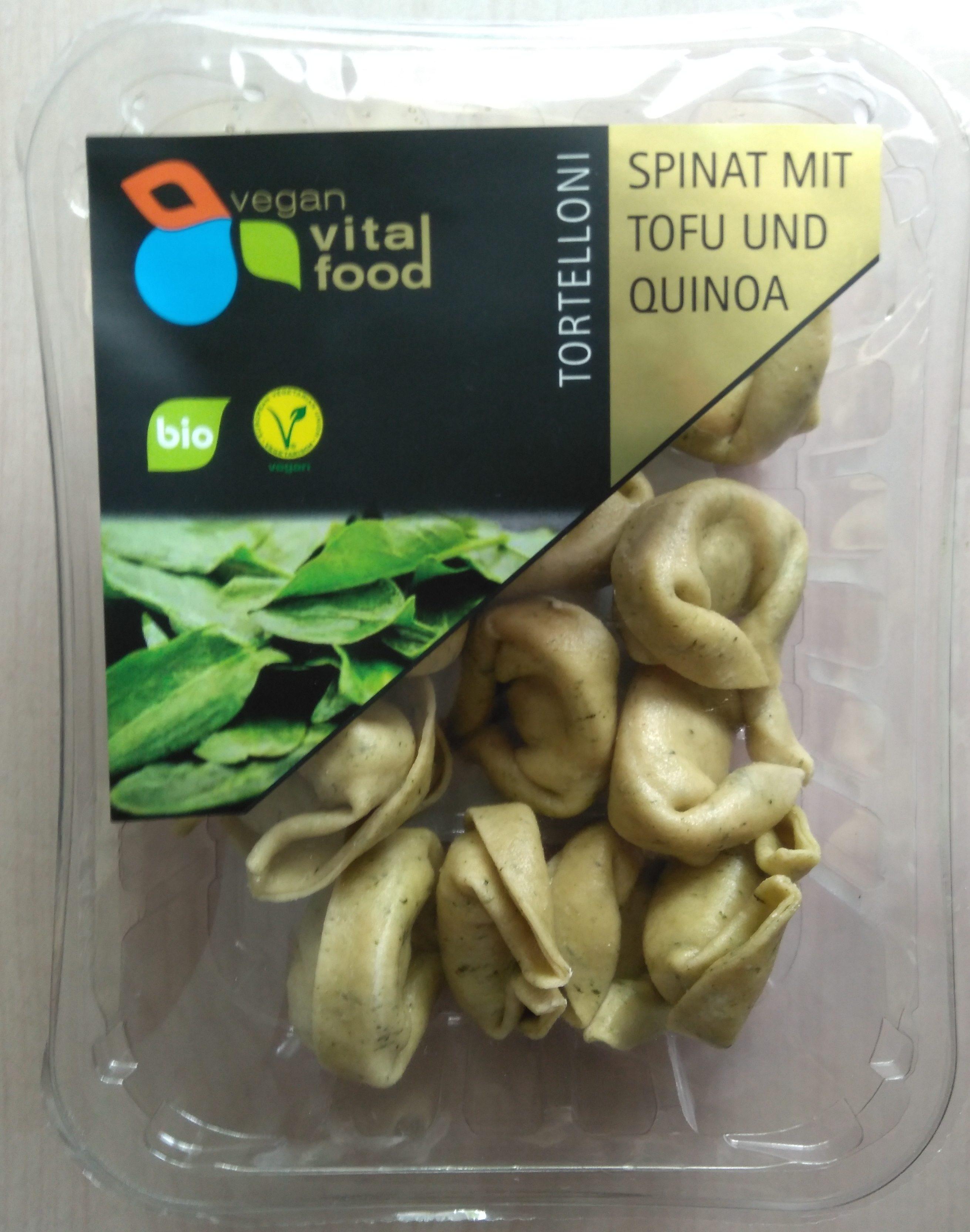Tortelloni Spinat mit Tofu und Quinoa - Produit - de