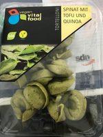 Tortelloni Spinat mit Tofu und Quinoa - Product - en