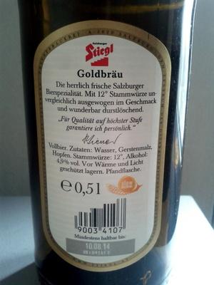 Stiegl Goldbräu - Ingredients - de