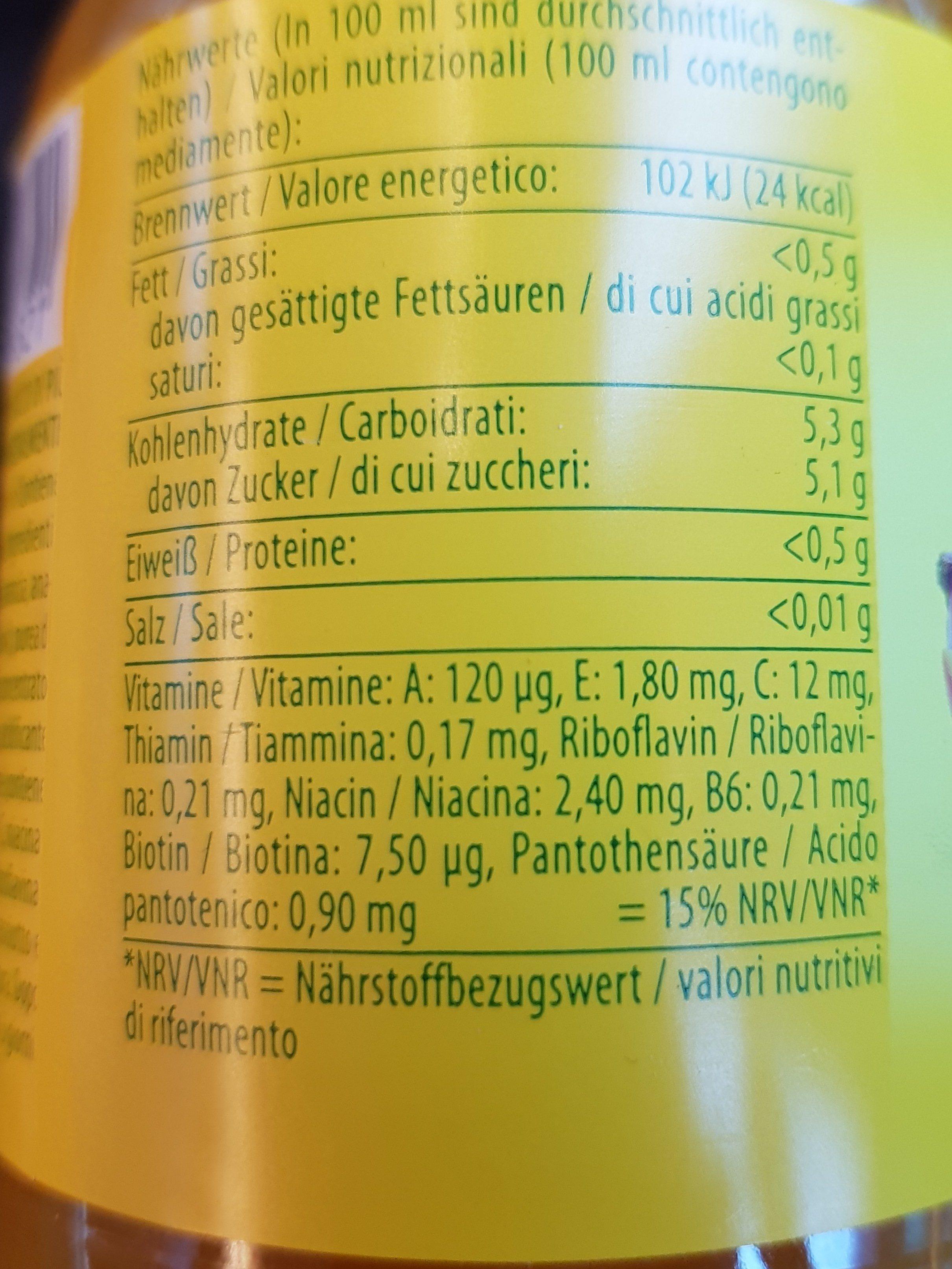 Multivitamin Mehrfruchtnektar 50% Mit Süßungsmitteln 0,5l Pet Flasche Pfanner - Ingredients - fr