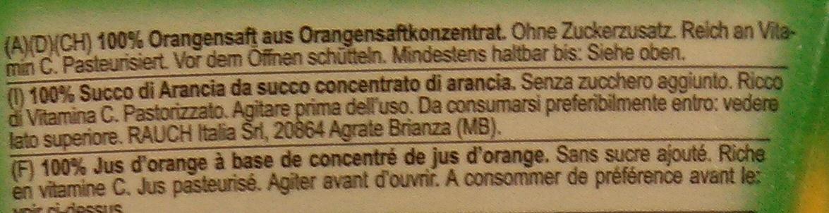 Happy Day 100% Orange - Zutaten - de