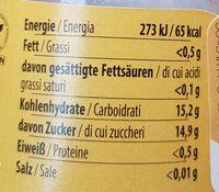 Franz Josef Rauch Marille-Aprikose - Informations nutritionnelles - fr