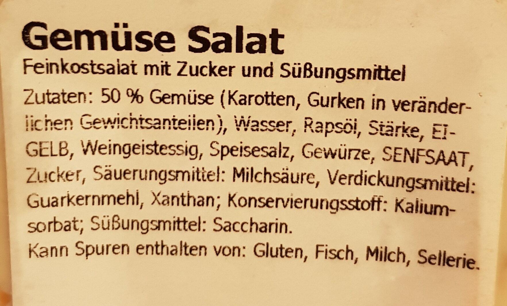 Gemüse Feinkostsalat - Ingredients