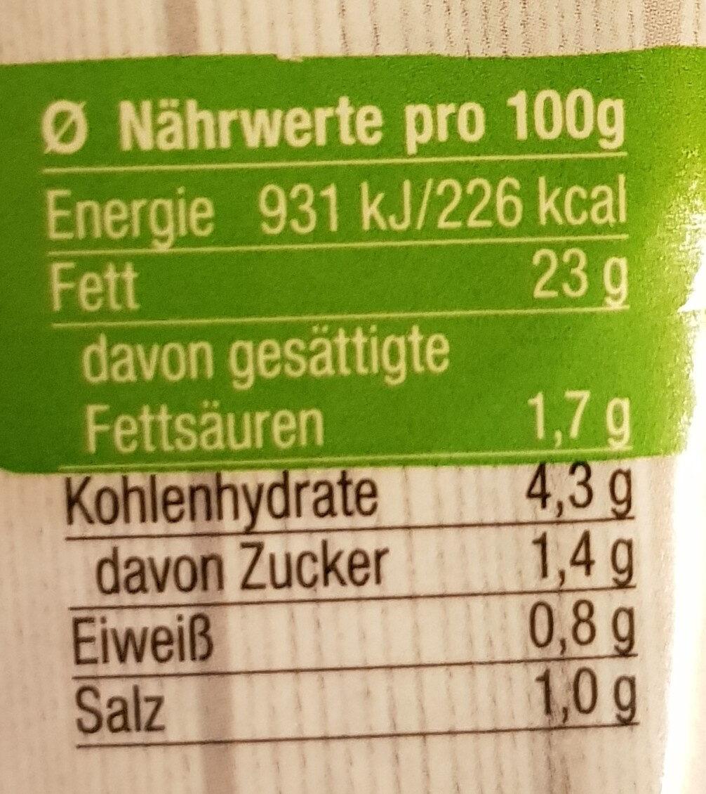 Gemüse Feinkostsalat - Nutrition facts