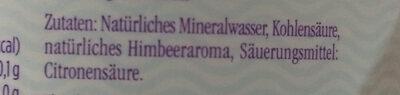 Mineralwasser Himbeer - Ingredienti - de