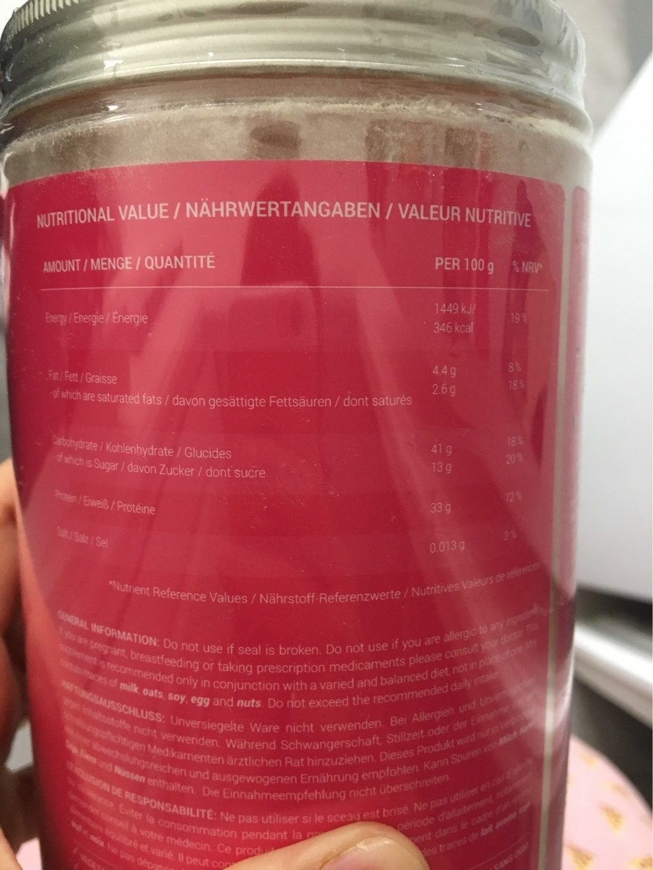 Cupcake mix - Voedingswaarden