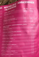 Fit whey - Informations nutritionnelles - fr