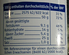 Jumbo Erdnüsse - Valori nutrizionali - de