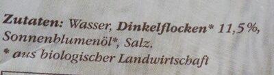 Bio Dinkel Drink - Ingrédients - de