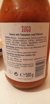 Sugo Bolognese - Ingredienti - de