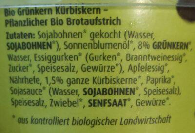 Grünkern und Kürbiskern Aufstrich - Ingredients - de