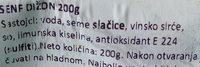 Dijon senf - Ingrédients
