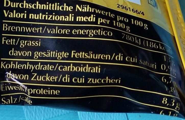 Dijon senf - Informations nutritionnelles