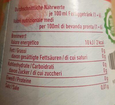 Mautner Markhof Himbeer Sirup 0% Zuckerzusatz - Nährwertangaben - en