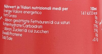 Almdudler Original 1L - Valori nutrizionali