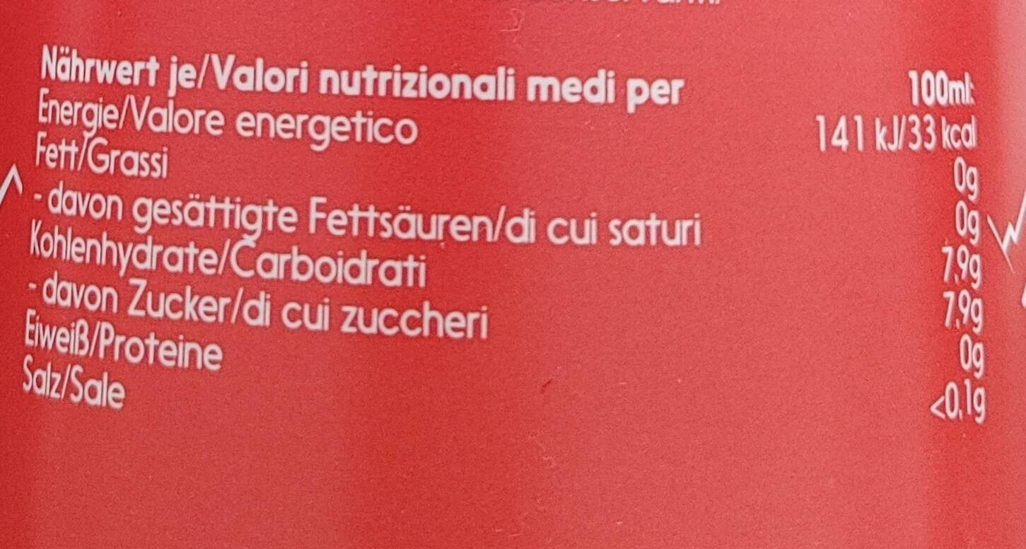 Almdudler Original 1L - Valori nutrizionali - fr