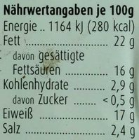 Feta - Nutrition facts - de