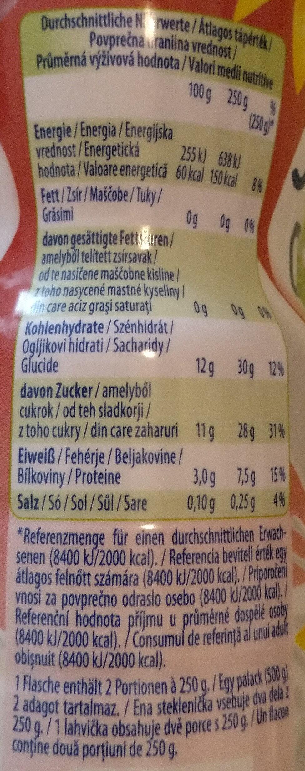 Joghurt Drink Kirsche-Vanille - Nutrition facts - de
