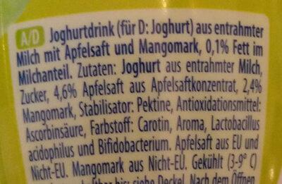 Joghurt Drink Apfel-Mango - Ingredients - de