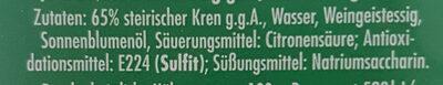 Mautner-markhof Kren - Ingredients