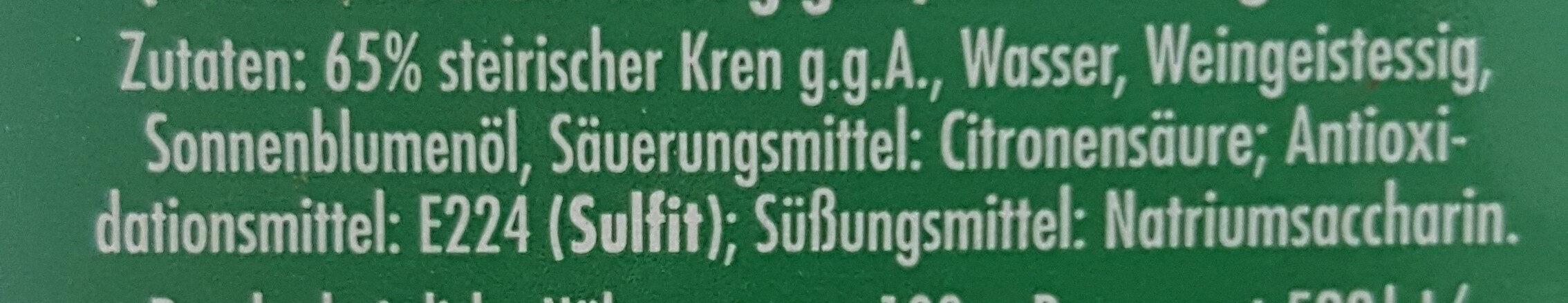 Mautner-markhof Kren - Ingrédients - de