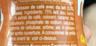 Cafemio Cappuccino - Rauch - 250ML - Ingrédients