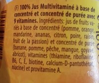 Rauch Juice Multivitamin Glass Bottle - Συστατικά - en