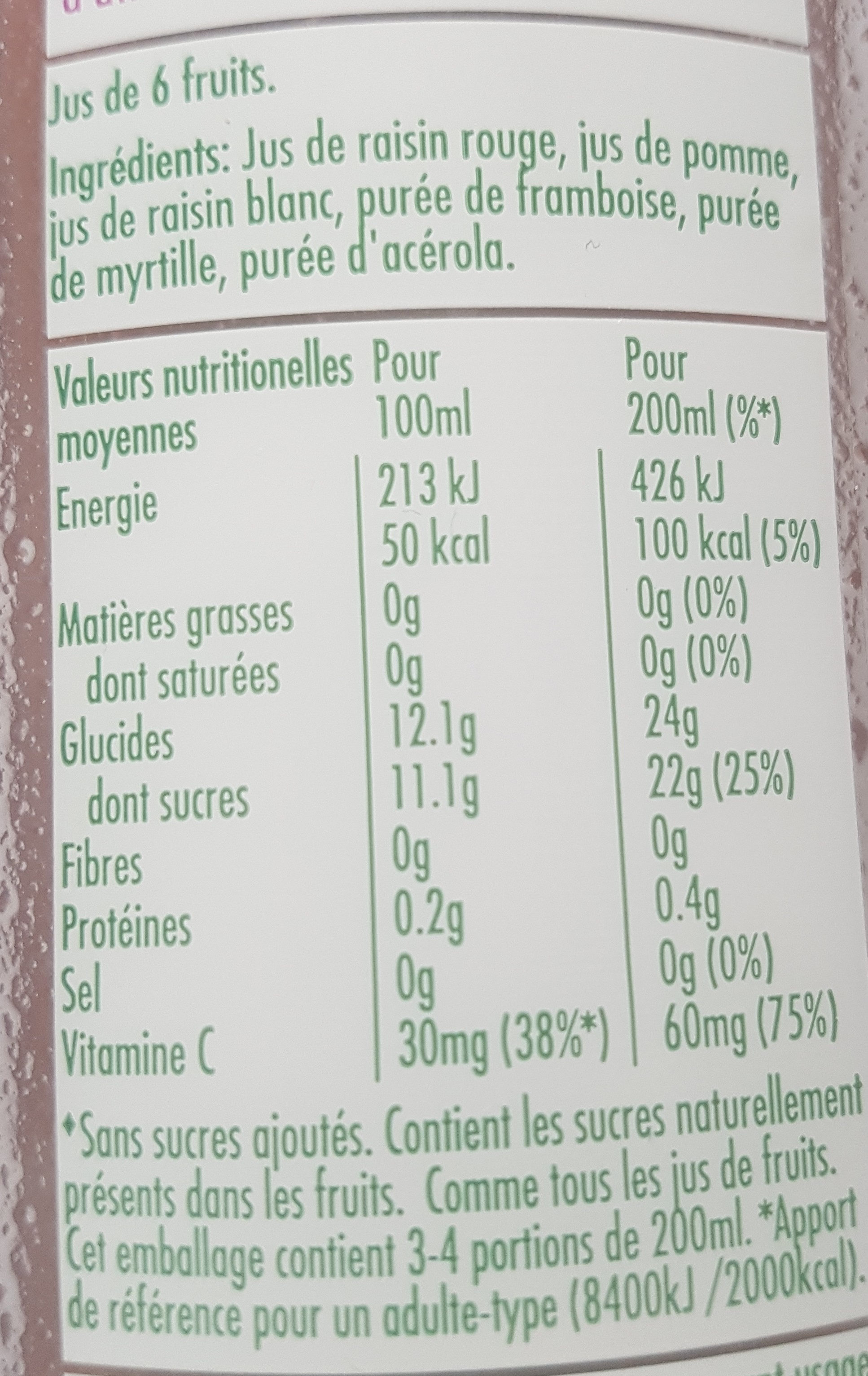 Tropicana essentiels antioxydant - Ingredients - fr