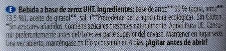 Arroz sin azucares anadidos - Ingredients - es
