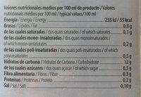 Arroz sin azucares anadidos - Informació nutricional - es