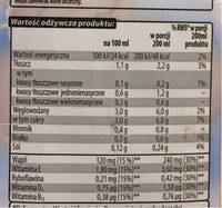 Napój migdałowy - Nutrition facts - pl