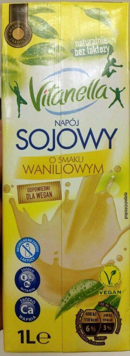 Napój sojowy UHT o smaku waniliowym wzbogacony w wapń i witaminy E, B, B12. - Produkt - pl