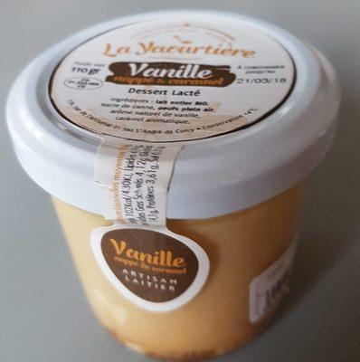 calorie Dessert Lacté Vanille Nappé de Caramel
