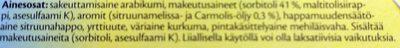 Carmolis Sitruunamelissa Yrttipastilli - Ingrédients