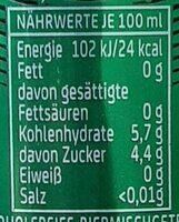 Natur Radler Alkoholfrei - Nährwertangaben - de