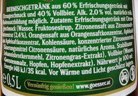 Natur Radler - Ingrediënten
