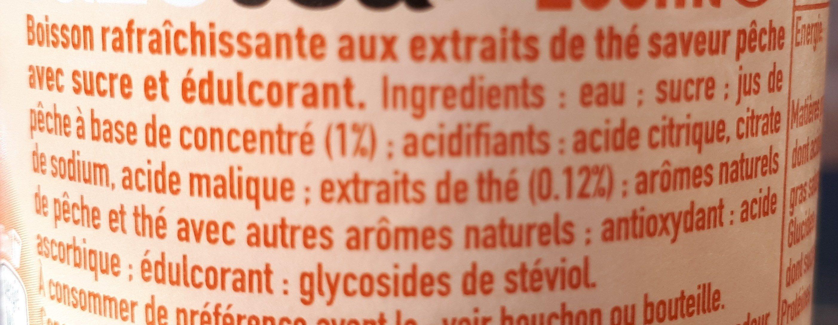 Thé glacé pêche intense - Ingredients
