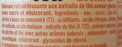 Thé Glacé Pêche Intense - Ingredients