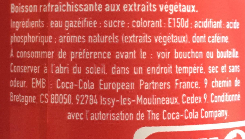 Coca-Cola original taste - Ingredients - fr