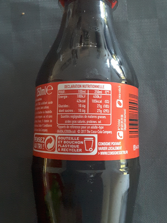 Coca-Cola original taste - Nutrition facts - fr