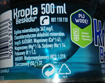 Woda mineralna - Wartości odżywcze - pl