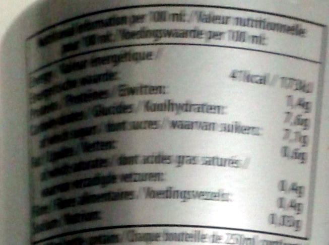 Cappuccino 100% arabica - Nutrition facts - fr