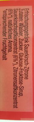 Durst Löscher Sauerkirschzitrone - Zutaten - de