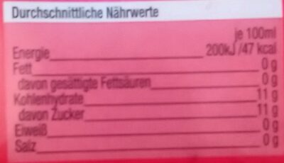 Durst Löscher Sauerkirschzitrone - Nährwertangaben - de