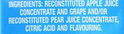 Just Juice Apple - Ingredienti - en